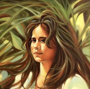 """Hawaiian Teenager."" Oil painting by A. Sidoni."