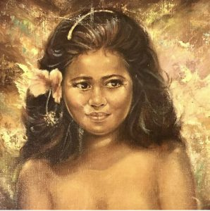 Young girl painting by Anthony Sidoni