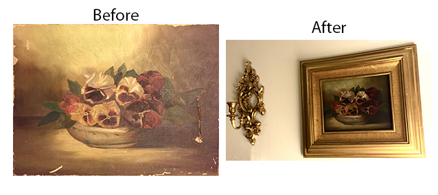 Antique oil painting restoration