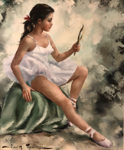 Through the Looking Glass ballerina oil painting by Igor Talwinski