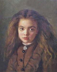 Portrait of a girl by an artist in the circle of Frank Holl RA