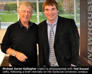 Michael Aaron Gallagher and Ted Koppel