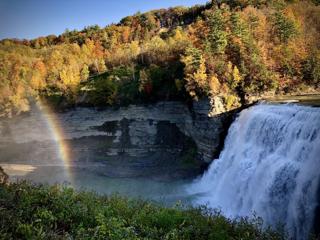 Middle Falls on the Genesee River at Letchworth State Park