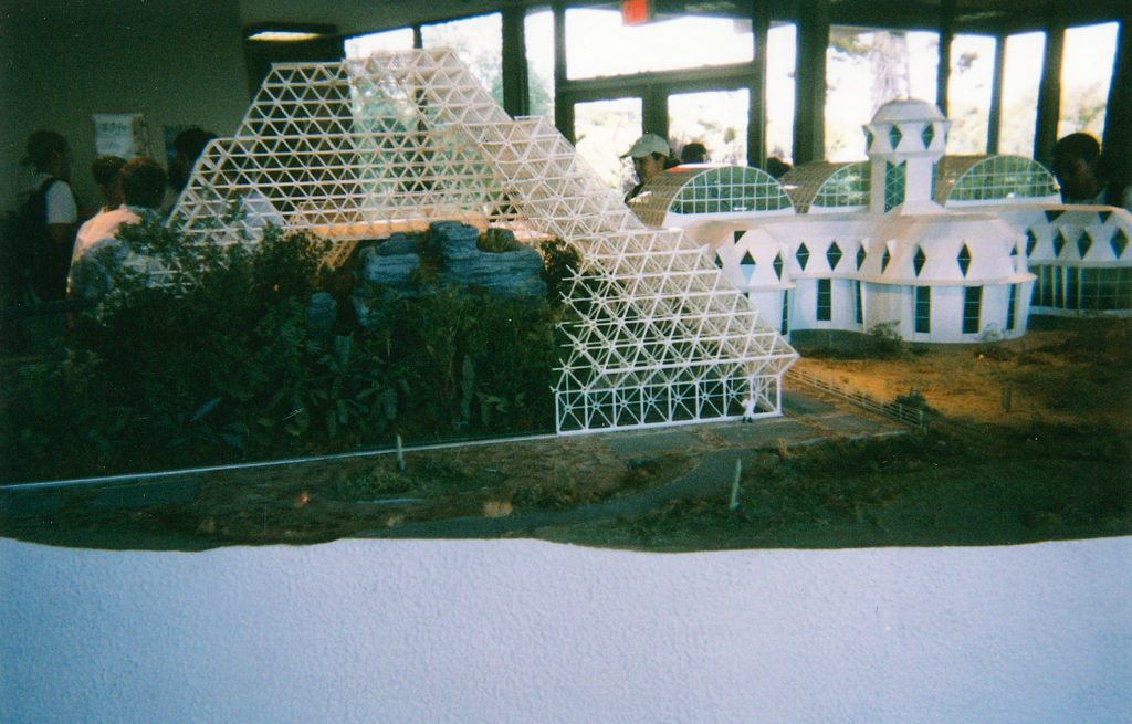 Biosphere 2 Center Miniature Model at the Visitor's Center