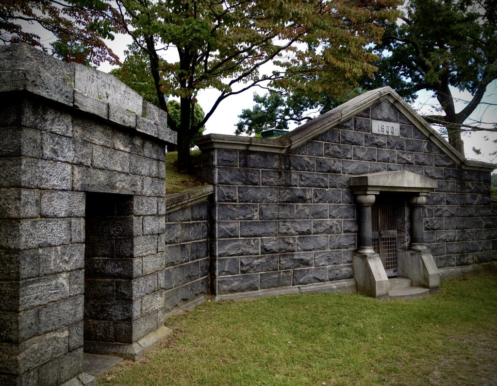 The receiving vault at Sleepy Hollow Cemetery