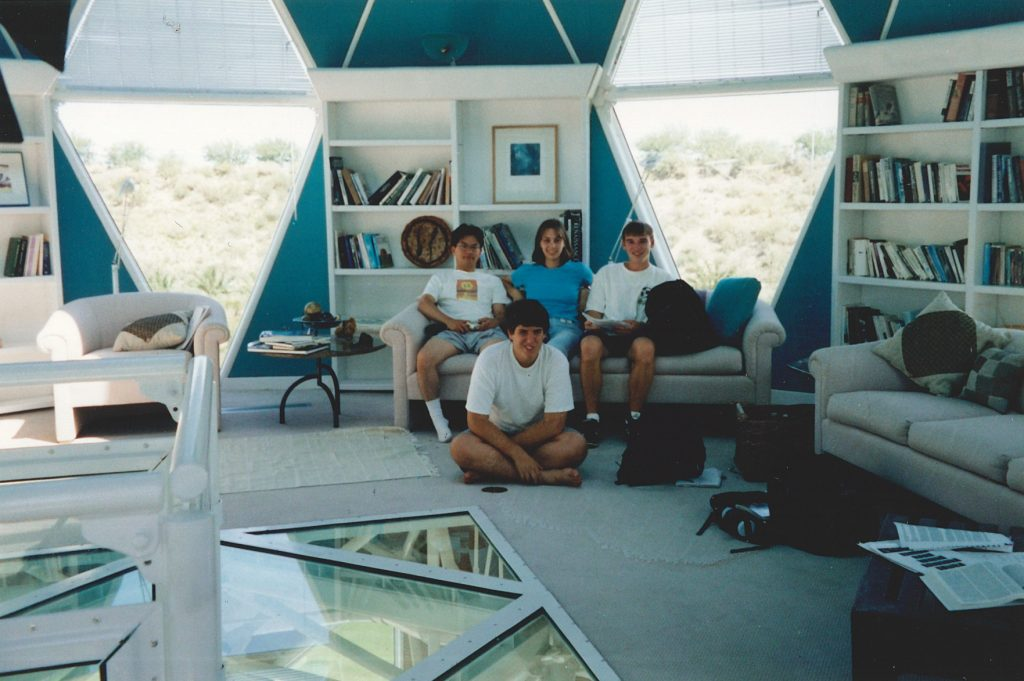 Michael Aaron Gallagher inside the Biosphere 2 Center