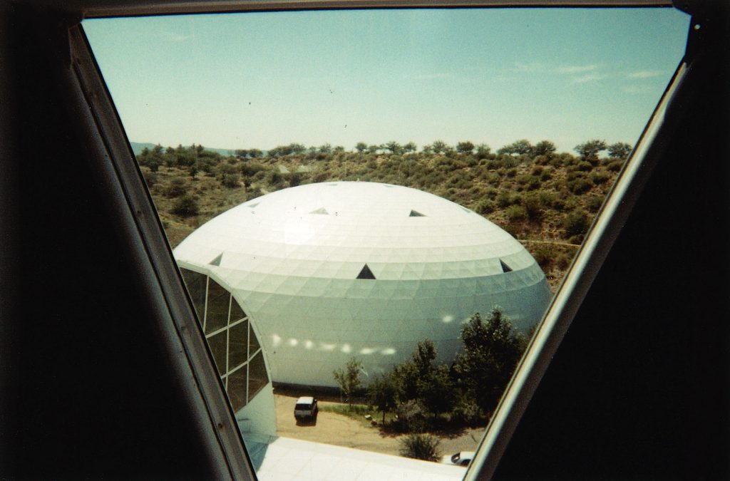 Window from the Tower at Biosphere 2 Center
