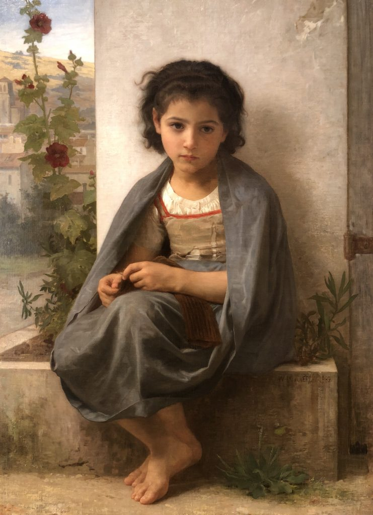 Little Knitter by William-Adolphe Bouguereau