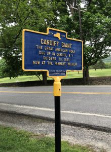 Cardiff Giant at the Farmer's Museum in Cooperstown New York Sign