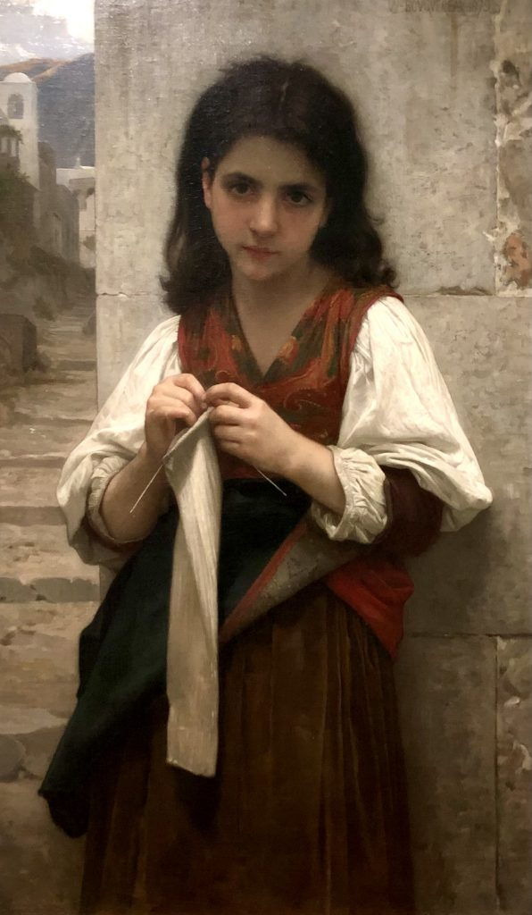 Tricoteuse the knitter by William-Adolphe Bouguereau