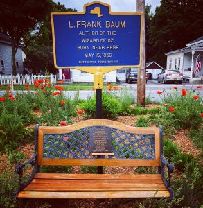 Birthplace of author L. Frank Baum, who wrote The Wizard of Oz.